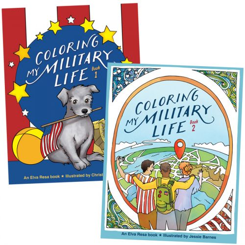 Coloring My Military Life books from Elva Resa Publishing